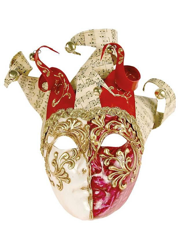 Jolly Colla rosso bianco - Venetian Mask
