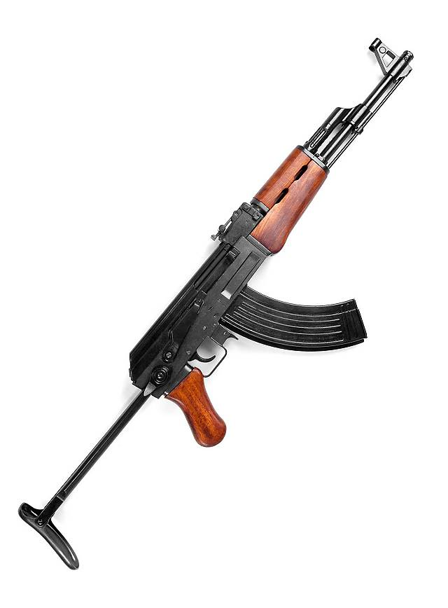 Kalashnikov AK47 mit Schulterstütze Dekowaffe
