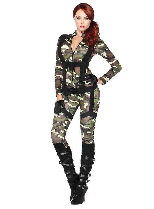 Sexy Army Girl Kostüm