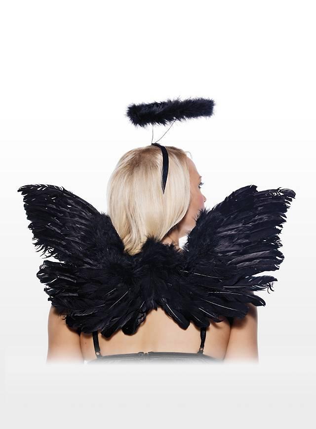 Kit accessoires Ange noir sexy