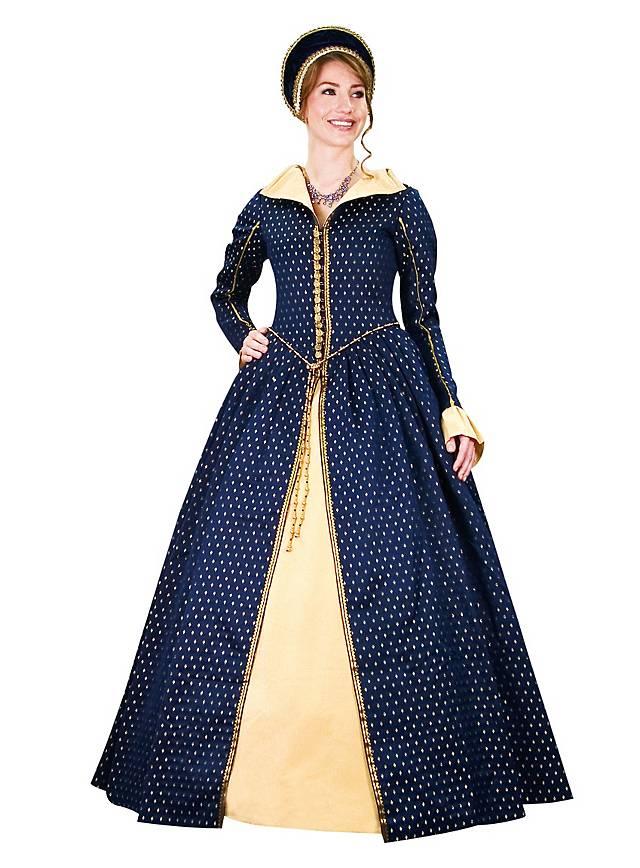 """Kleid """"Königin von Schottland"""" blau"""
