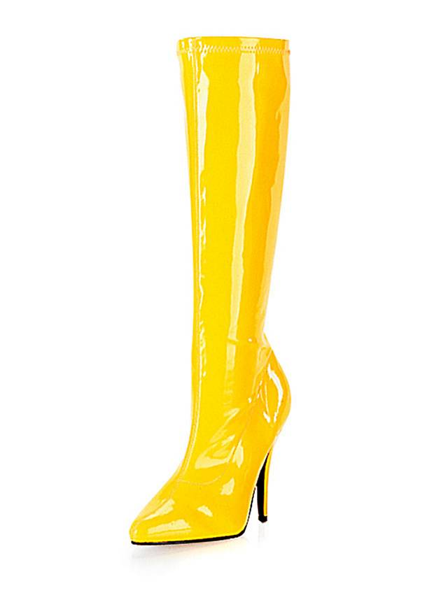 knee high boots yellow