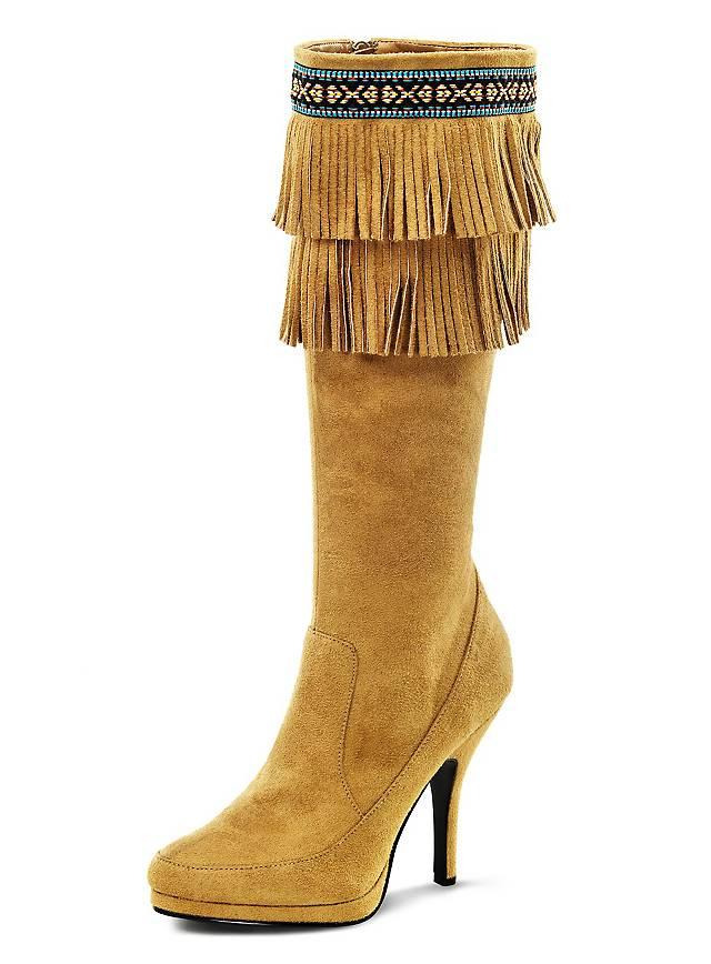 Kniehohe Stiefel Indianer Damen
