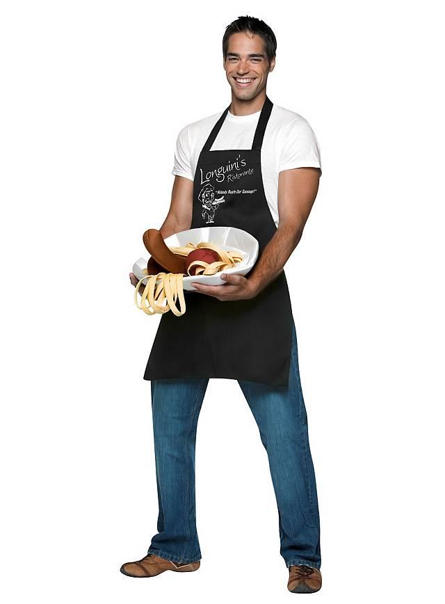 Koch mit großem Würstchen Kostüm