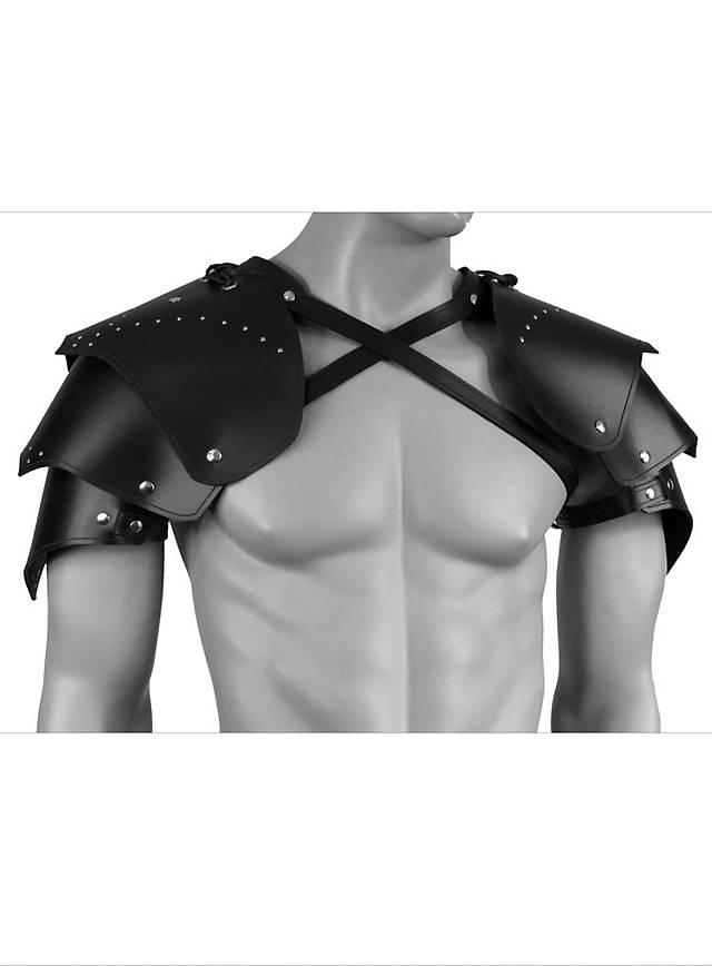 Krieger Schulterschutz aus Leder