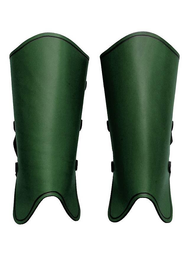 Kriegsknecht Beinschienen grün