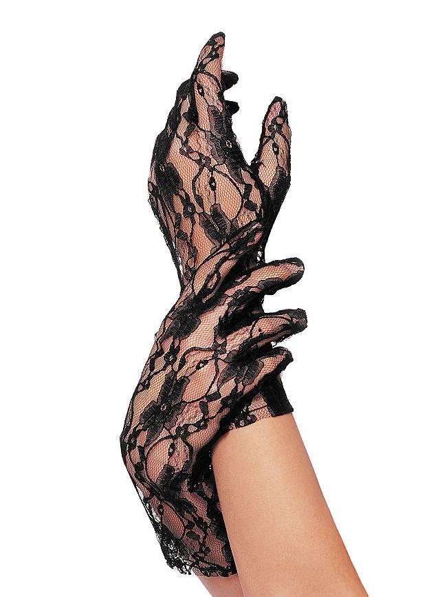Lace Mesh Gloves black