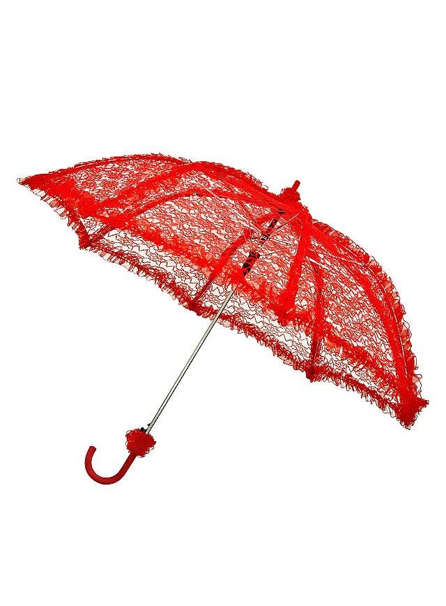 Lace Umbrella red