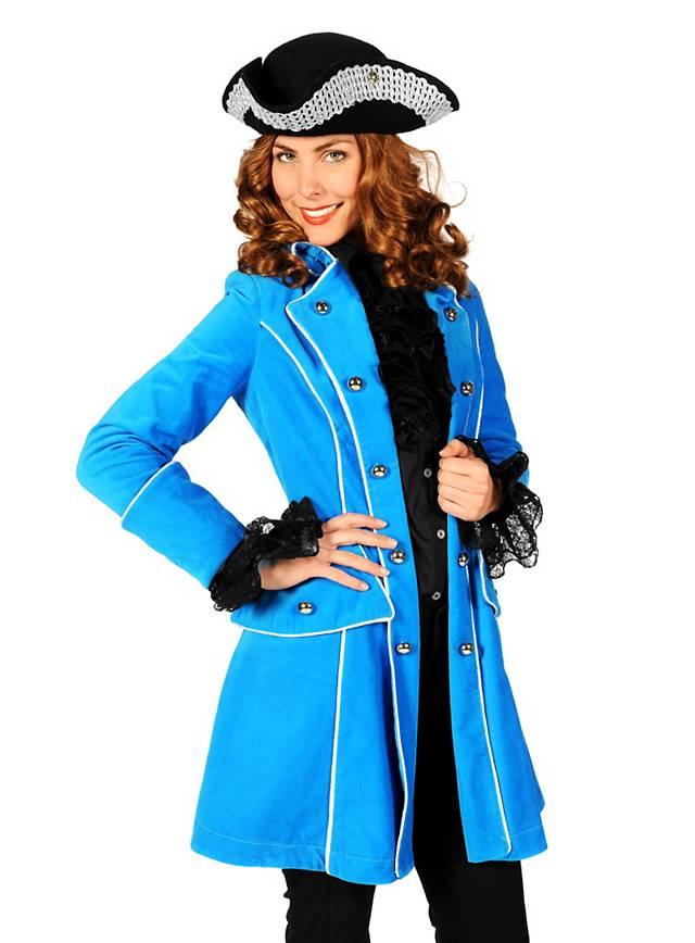 Lady Pirate Coat Velvet sky blue