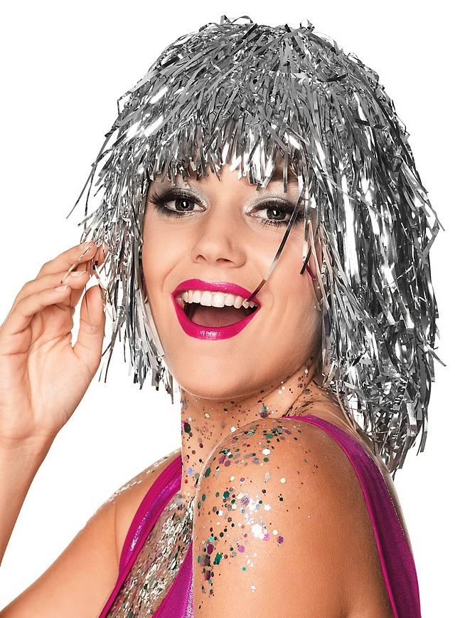 Lametta wig silver