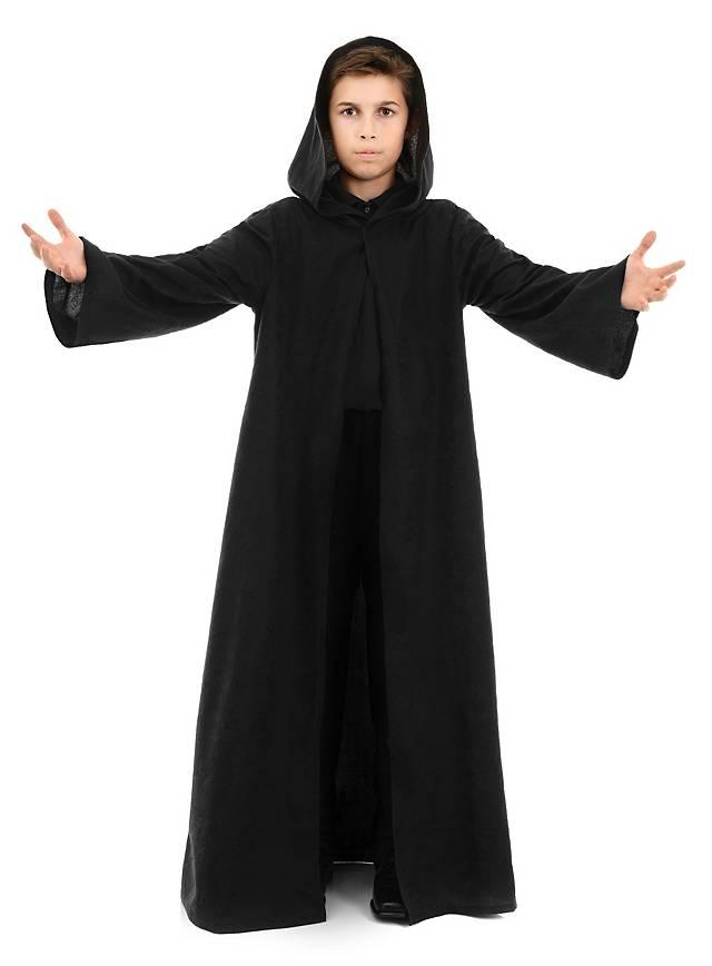 Lange Robe schwarz für Kinder - maskworld.com