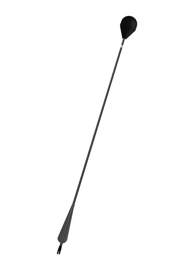 Larp-arrow rounded head - black shaft