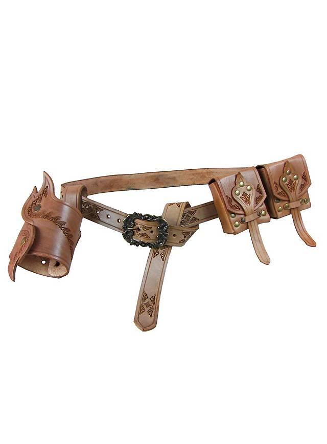 Leather Adventurer Belt Set brown