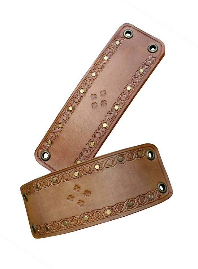 Leather Armbands light brown