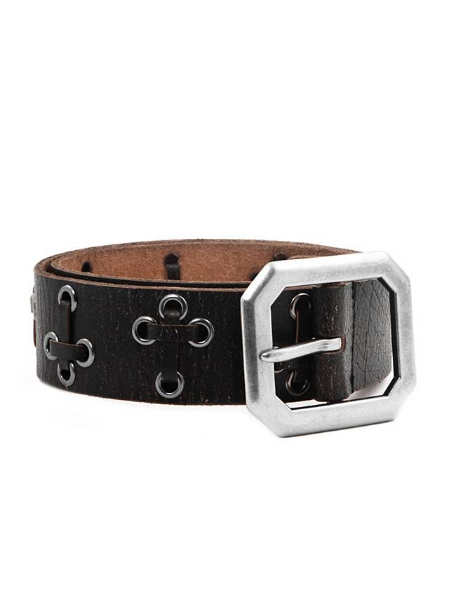 leather belt with crosses