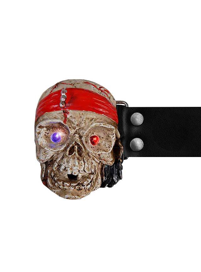 LED Pirate Skull Belt