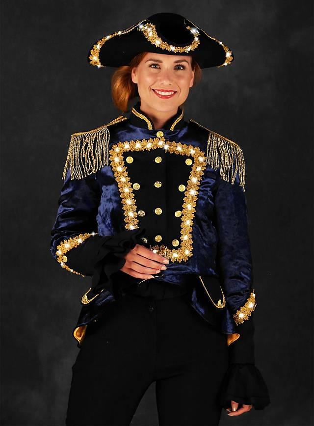LED Uniform für Damen blau