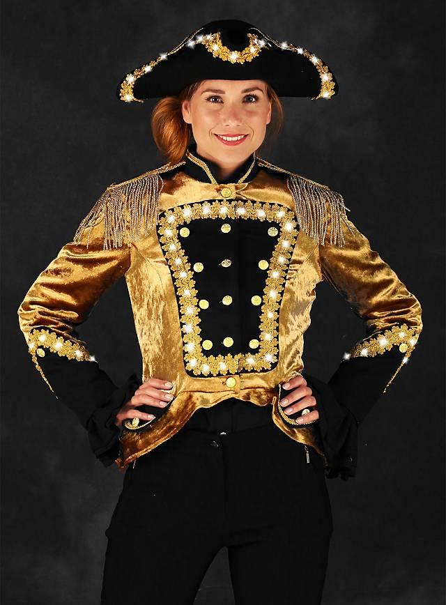 LED Uniform für Damen gold