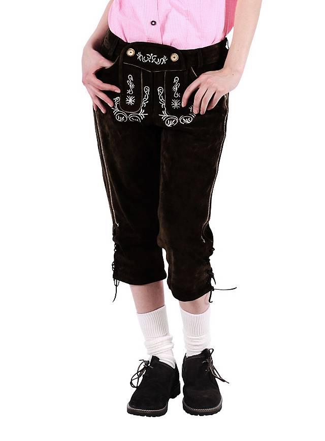Lederhosen Women knee-length dark brown - maskworld.com 7bfcf2b7d