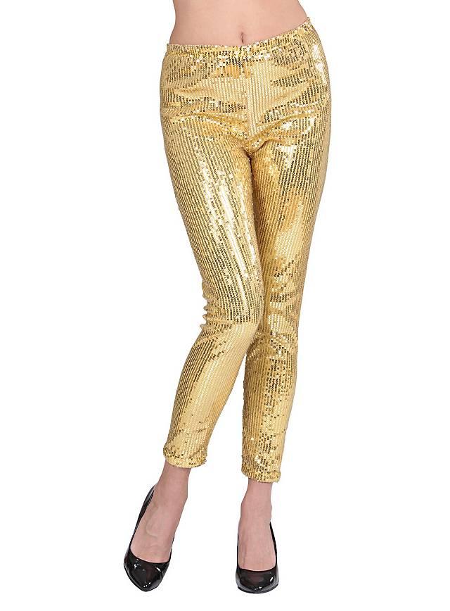 Leggings sequins gold