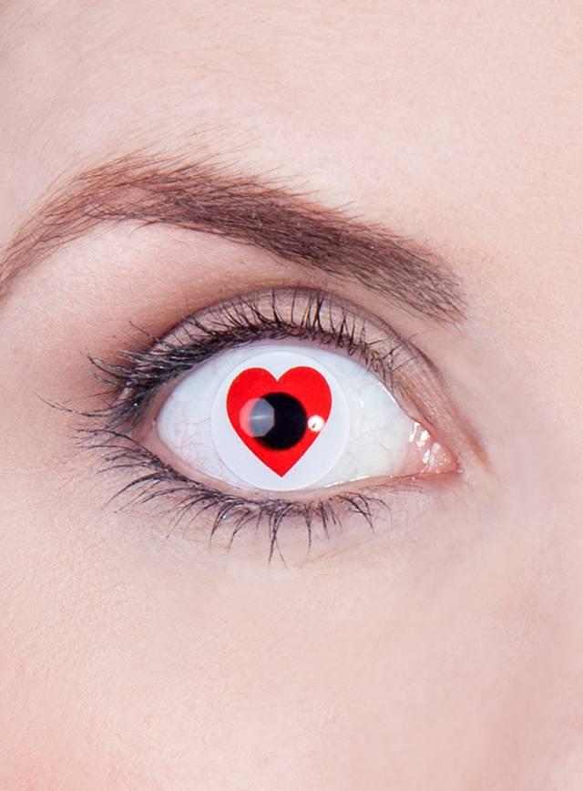 Lentilles de contact cœur