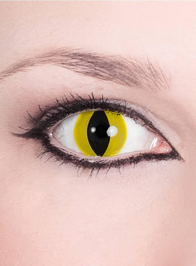 Lentilles de contact prédateur jaunes