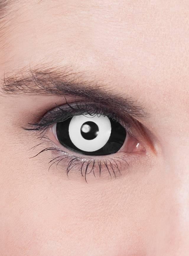 Extrêmement Lentilles de contact Sclera noir & blanc - maskworld.com CX85