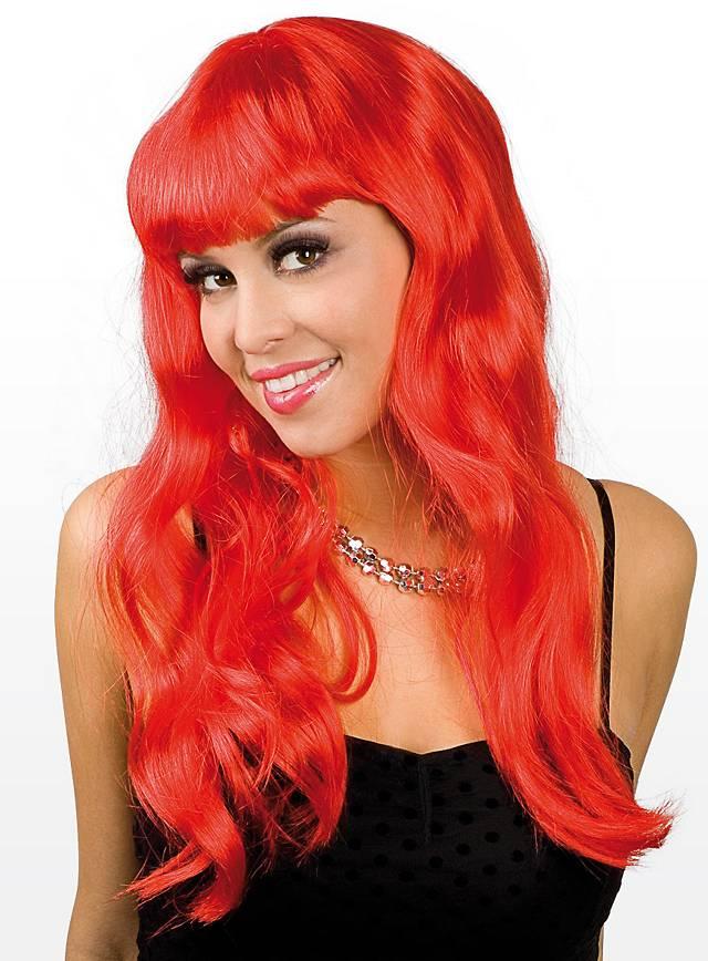 Long Hair pomegranate Wig