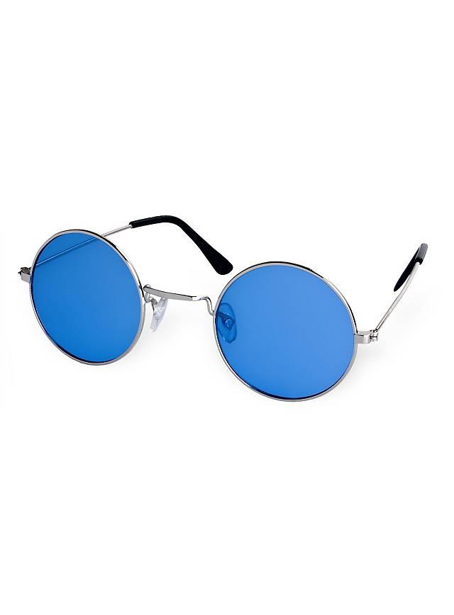 Lunettes de hippie bleues