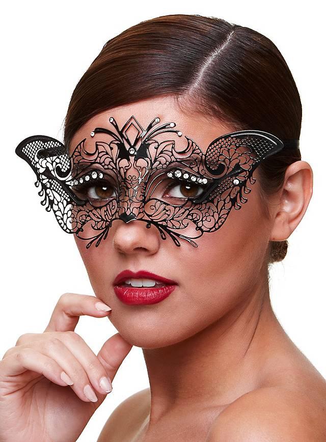 Madame venezianische Maske aus Metall