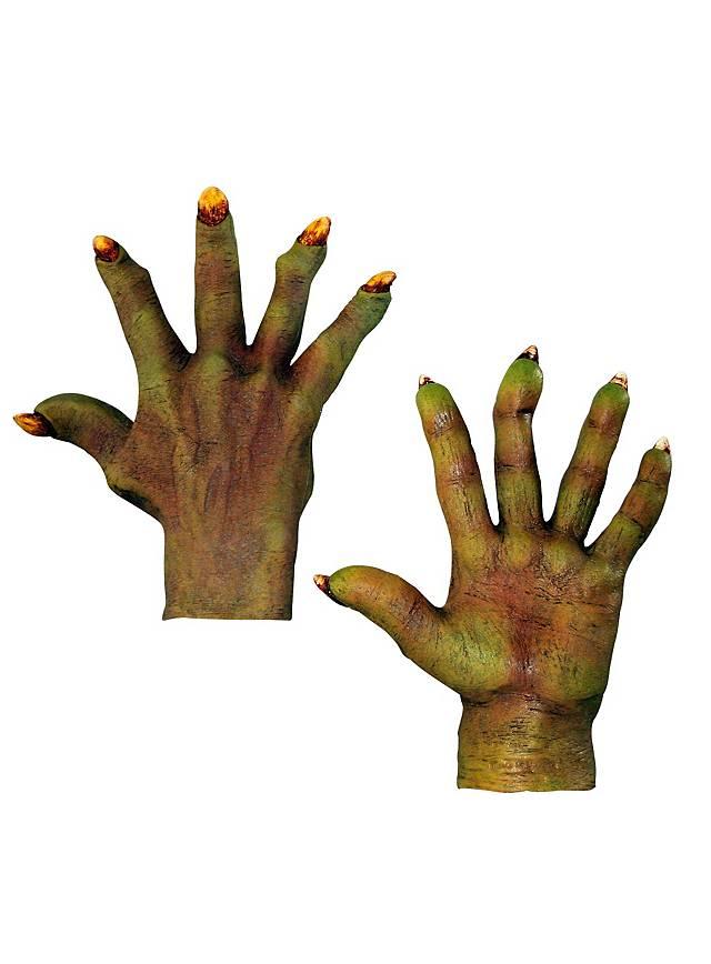 Mains de démon vertes