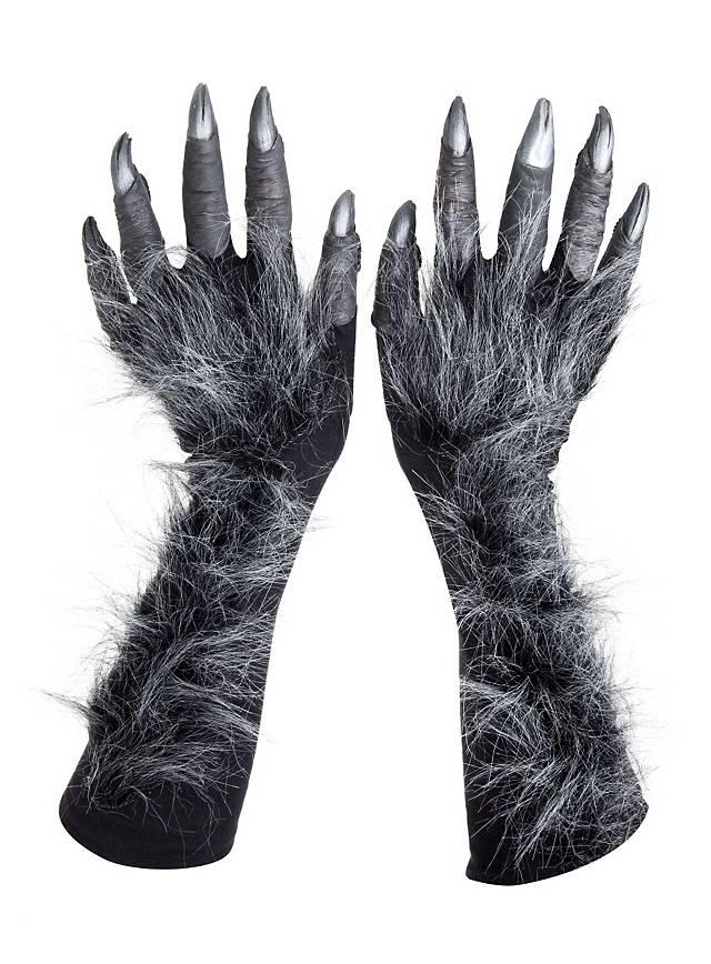 Mains de loup-garou grises