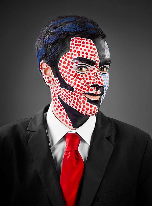 Make Up Set Pop Art Mann Halloween Schminkset Maskworld Com