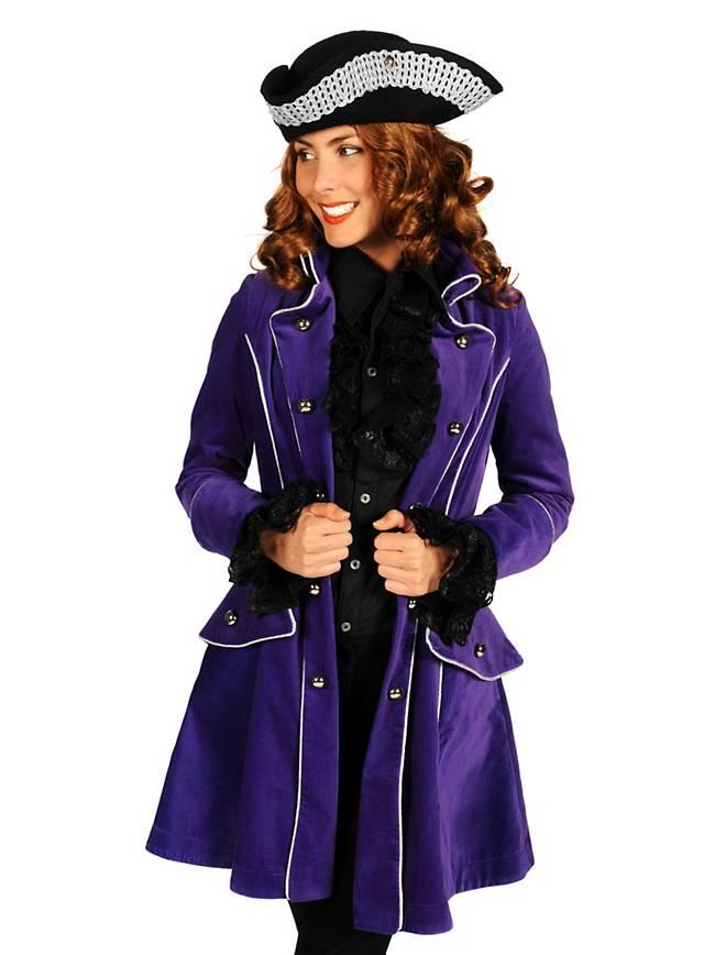 Manteau de pirate violet en velours