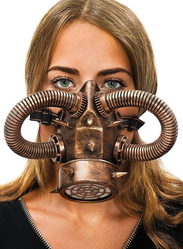 Masque à gaz steampunk cuivré