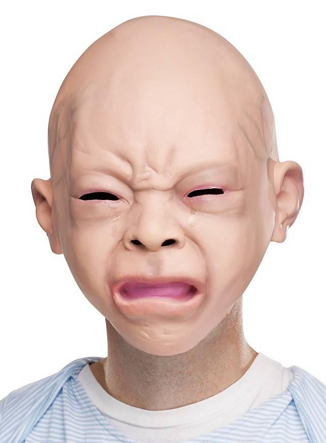 Masque de bébé pleureur en latex