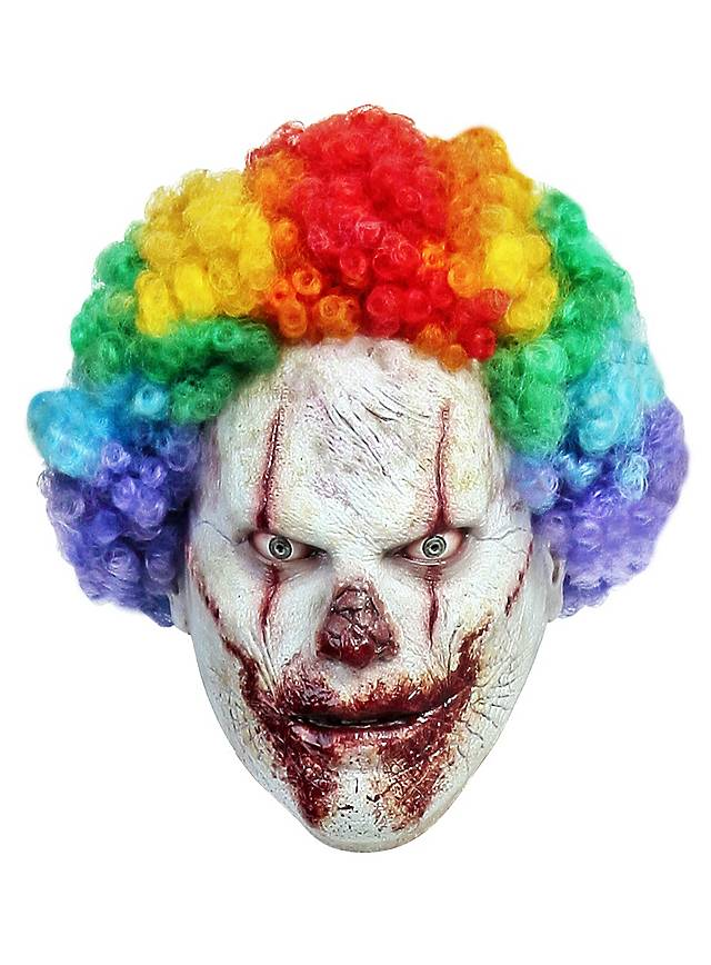 Masque de clown arc-en-ciel