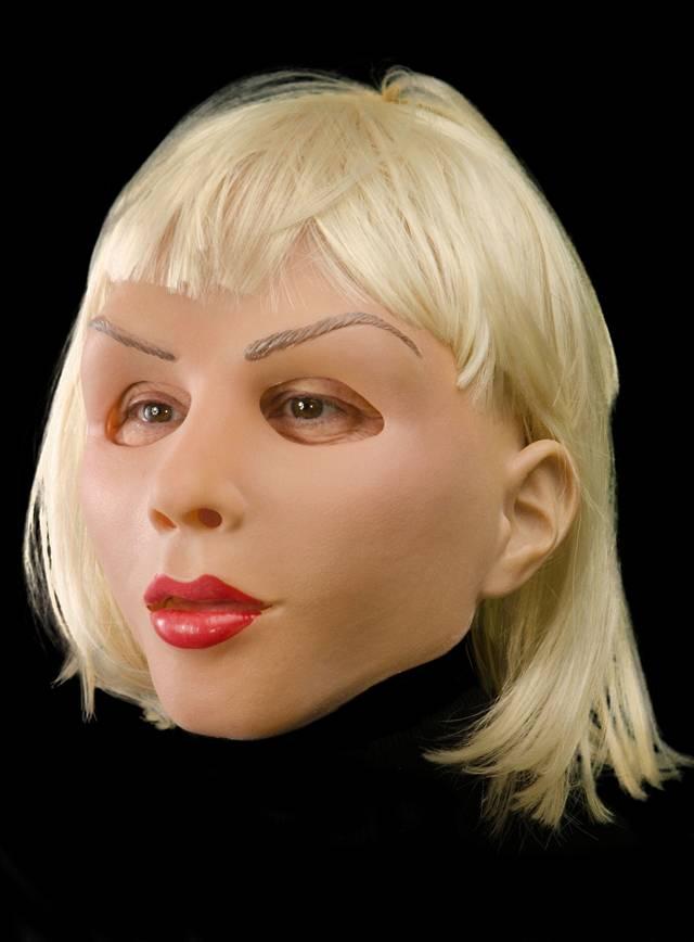 Masque de diva blonde en latex