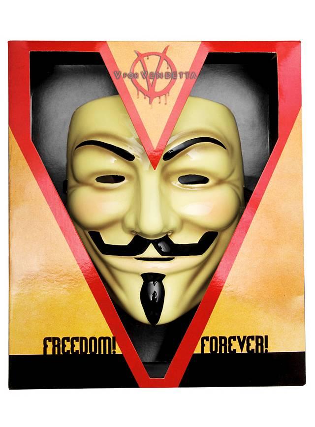 Masque Guy Fawkes Deluxe V pour Vendetta