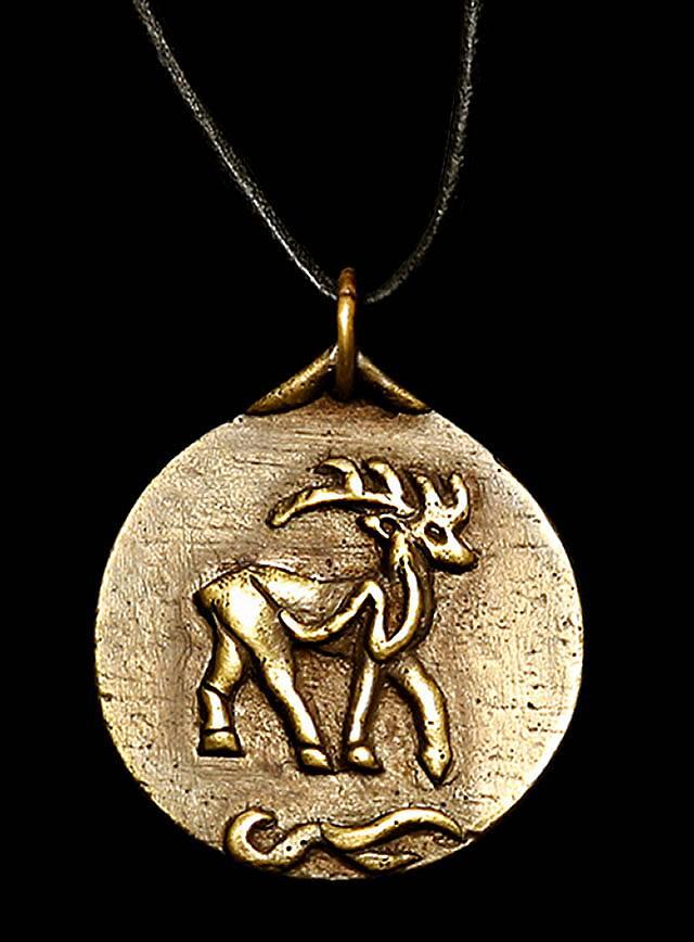 Médaillon celtique avec cerf
