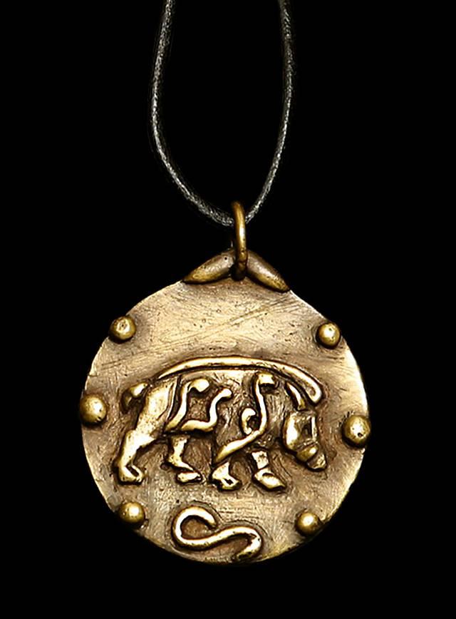 Médaillon celtique avec sanglier