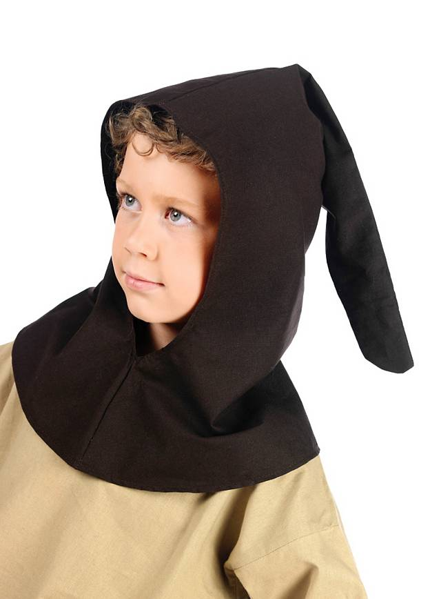 Medieval Chaperon brown for Kids