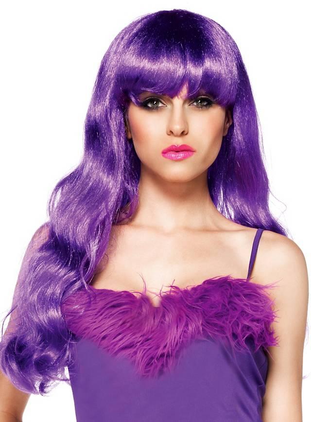 Meerjungfrau violett Perücke