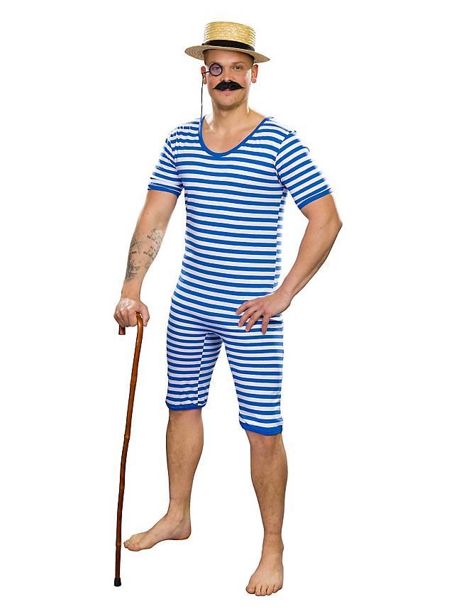 Men swimsuit 20s blue