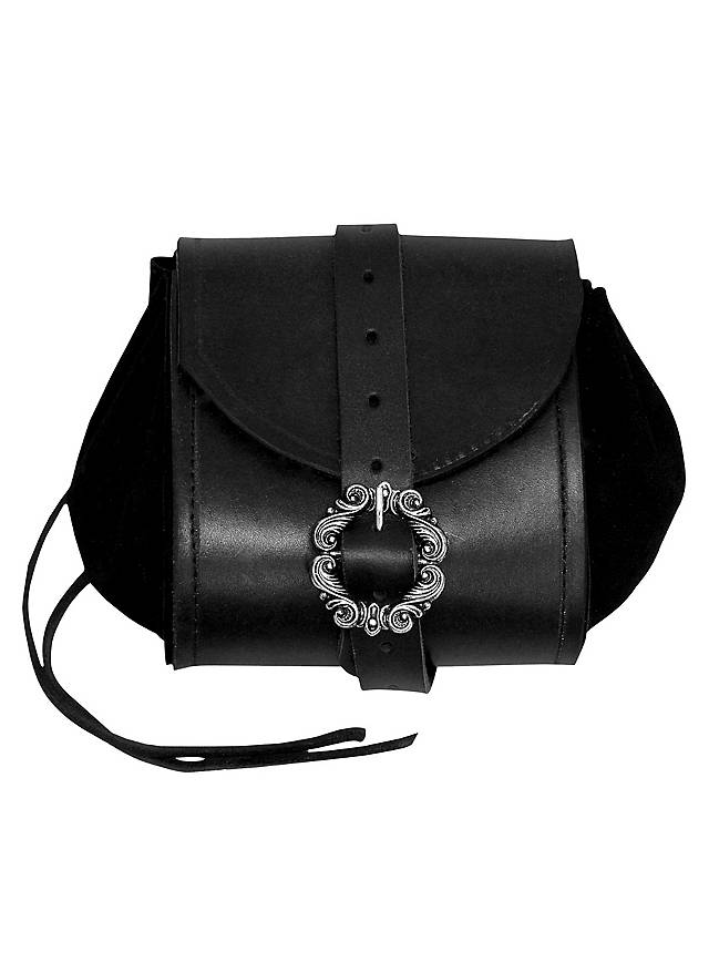 Merchant Leather Pouch black
