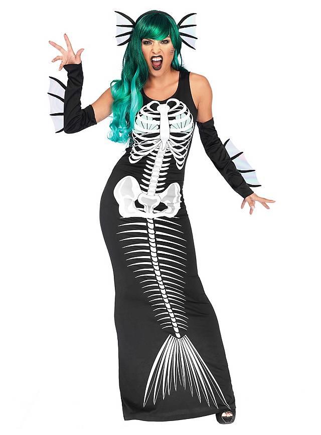 Mermaid skeleton costume