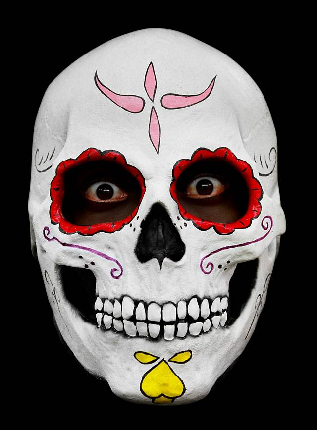 Mexikanische Calavera Maske aus Latex