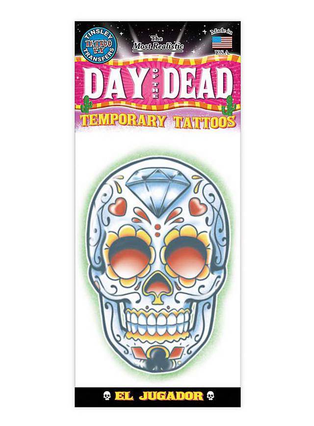 Mexikanischer Diamant-Schädel Klebe-Tattoo