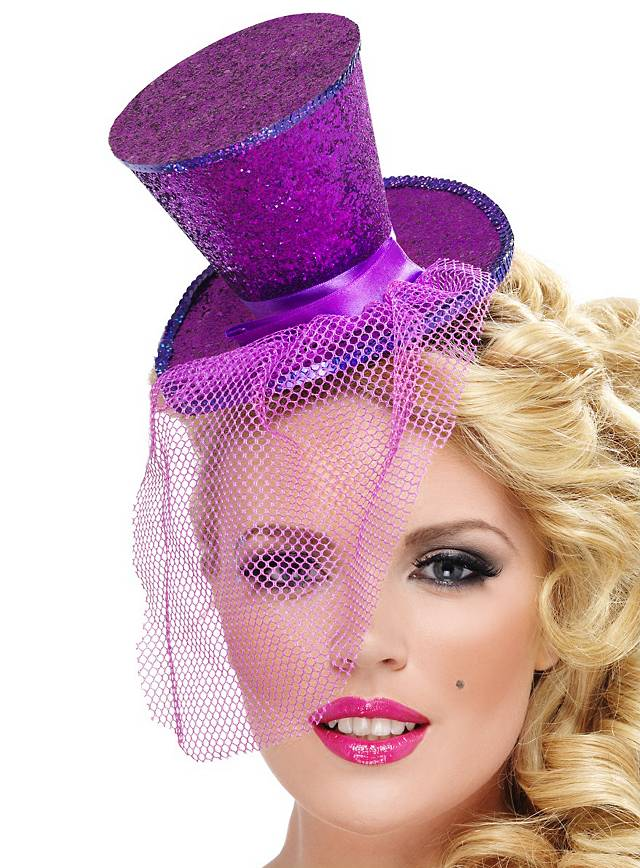 Mini Top Hat Hair Band violet