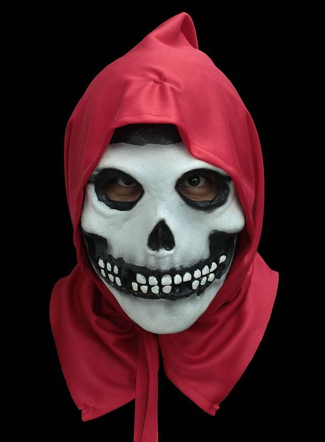 misfits fiend totenkopf maske mit roter kapuze. Black Bedroom Furniture Sets. Home Design Ideas